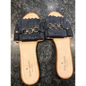 Kate Spade denim slippers